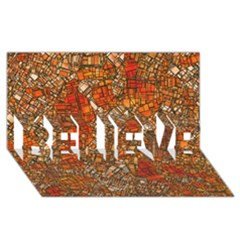 Fantasy City Maps 3 BELIEVE 3D Greeting Card (8x4)