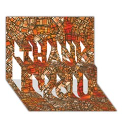 Fantasy City Maps 3 THANK YOU 3D Greeting Card (7x5)