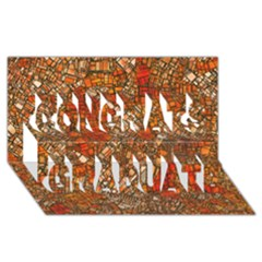 Fantasy City Maps 3 Congrats Graduate 3D Greeting Card (8x4)