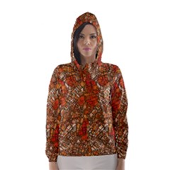 Fantasy City Maps 3 Hooded Wind Breaker (Women)