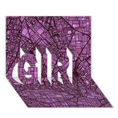 Fantasy City Maps 4 Girl 3d Greeting Card (7x5)