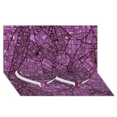 Fantasy City Maps 4 Twin Heart Bottom 3d Greeting Card (8x4)