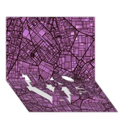Fantasy City Maps 4 LOVE Bottom 3D Greeting Card (7x5)