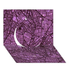 Fantasy City Maps 4 Circle 3D Greeting Card (7x5)