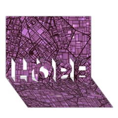 Fantasy City Maps 4 HOPE 3D Greeting Card (7x5)