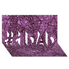 Fantasy City Maps 4 #1 Dad 3d Greeting Card (8x4)