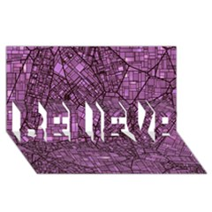 Fantasy City Maps 4 BELIEVE 3D Greeting Card (8x4)