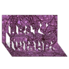 Fantasy City Maps 4 Best Wish 3d Greeting Card (8x4)