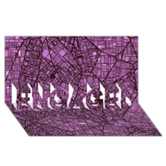 Fantasy City Maps 4 ENGAGED 3D Greeting Card (8x4)