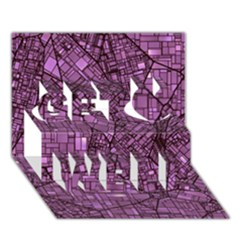 Fantasy City Maps 4 Get Well 3d Greeting Card (7x5)