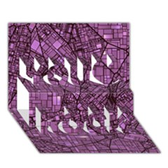 Fantasy City Maps 4 You Rock 3D Greeting Card (7x5)
