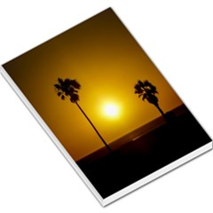 Sunset Scene at the Coast of Montevideo Uruguay Large Memo Pads