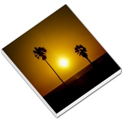 Sunset Scene at the Coast of Montevideo Uruguay Small Memo Pads