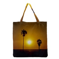 Sunset Scene At The Coast Of Montevideo Uruguay Grocery Tote Bags