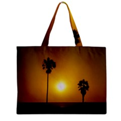 Sunset Scene at the Coast of Montevideo Uruguay Zipper Tiny Tote Bags