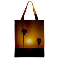 Sunset Scene at the Coast of Montevideo Uruguay Zipper Classic Tote Bags
