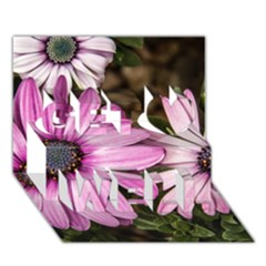 Beautiful Colourful African Daisies  Get Well 3D Greeting Card (7x5)