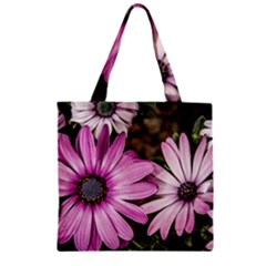 Beautiful Colourful African Daisies  Zipper Grocery Tote Bags