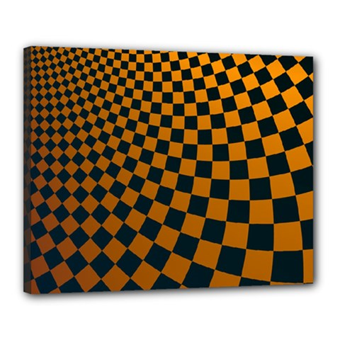 Abstract Square Checkers  Canvas 20  X 16