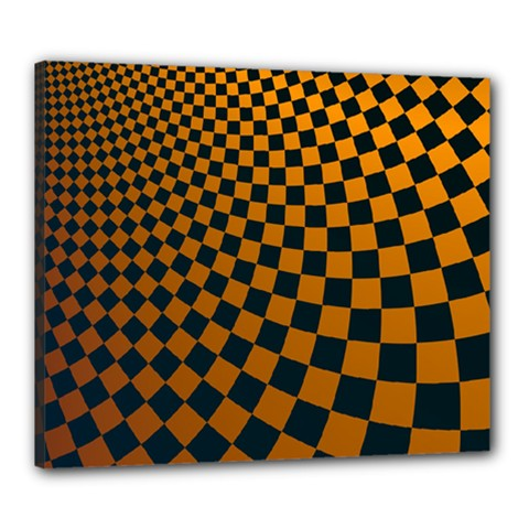 Abstract Square Checkers  Canvas 24  x 20