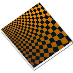 Abstract Square Checkers  Small Memo Pads