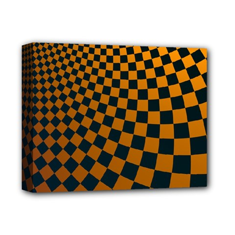 Abstract Square Checkers  Deluxe Canvas 14  x 11