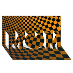 Abstract Square Checkers  MOM 3D Greeting Card (8x4)