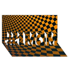 Abstract Square Checkers  #1 MOM 3D Greeting Cards (8x4)