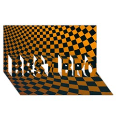 Abstract Square Checkers  Best Bro 3d Greeting Card (8x4)