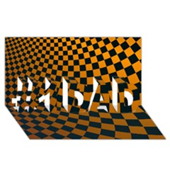 Abstract Square Checkers  #1 Dad 3d Greeting Card (8x4)