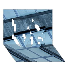 Abstract View Of Modern Buildings Love 3d Greeting Card (7x5)