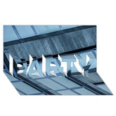 Abstract View Of Modern Buildings Party 3d Greeting Card (8x4)