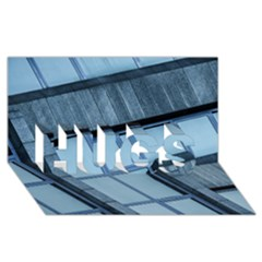 Abstract View Of Modern Buildings HUGS 3D Greeting Card (8x4)