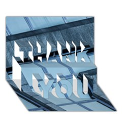 Abstract View Of Modern Buildings Thank You 3d Greeting Card (7x5)