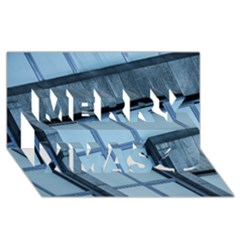 Abstract View Of Modern Buildings Merry Xmas 3d Greeting Card (8x4)