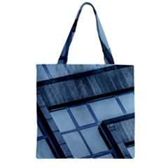 Abstract View Of Modern Buildings Zipper Grocery Tote Bags