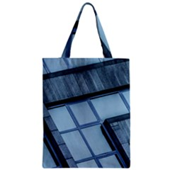 Abstract View Of Modern Buildings Zipper Classic Tote Bags