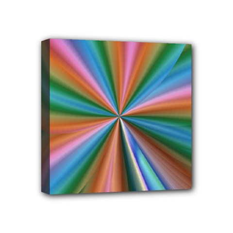 Abstract Rainbow Mini Canvas 4  x 4