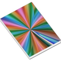 Abstract Rainbow Large Memo Pads