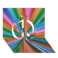 Abstract Rainbow Peace Sign 3D Greeting Card (7x5)