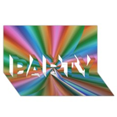 Abstract Rainbow PARTY 3D Greeting Card (8x4)