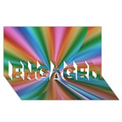 Abstract Rainbow Engaged 3d Greeting Card (8x4)