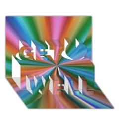 Abstract Rainbow Get Well 3D Greeting Card (7x5)