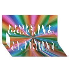 Abstract Rainbow Congrats Graduate 3D Greeting Card (8x4)