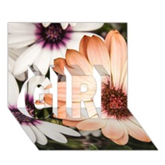 Beautiful Colourful African Daisies GIRL 3D Greeting Card (7x5)