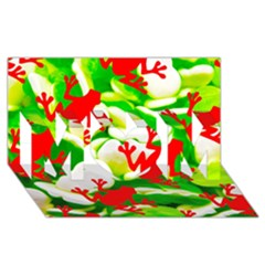 Box of Frogs  MOM 3D Greeting Card (8x4)