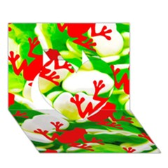 Box Of Frogs  Heart 3d Greeting Card (7x5)