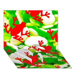 Box of Frogs  LOVE Bottom 3D Greeting Card (7x5)