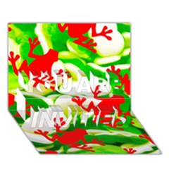 Box Of Frogs  You Are Invited 3d Greeting Card (7x5)