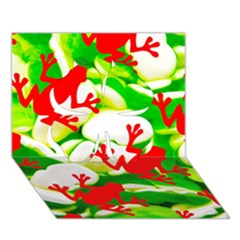 Box of Frogs  Clover 3D Greeting Card (7x5)